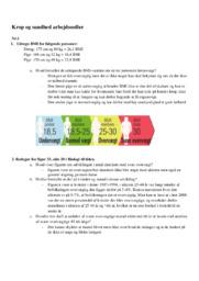 Krop og sundhed arbejdssedler | 10 i karakter