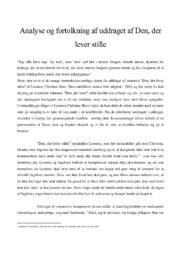 Den der lever stille   Analyse   Leonora Christina Skov