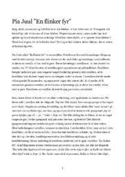 En flinker fyr | Analyse | Pia Juul | 10 i Karakter