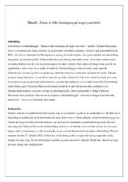 Islam er ikke løsningen på…   Analyse   Christian Marcussen