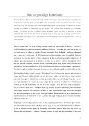 Kattens død | Analyse | Anne Bredahl | 10 i Karakter