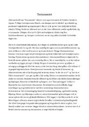 Testamentet | Analyse | Christian Sønderby Jepsen
