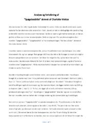 Spøgelsesbilist | Analyse og fortolkning  | Charlotte Weitze