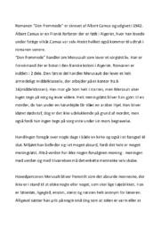Den fremmede | Analyse | Albert Camus