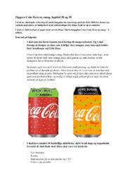 Opgave Cola Zero ny smag, kapitel 38 og 39