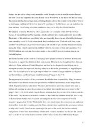 Unicef in GB | Essay | 10 i karakter