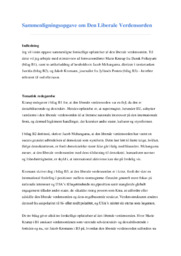 Sammenligningsopgave om Den Liberale Verdensorden