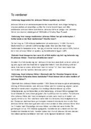 Jehovas Vidner | Undersøgelse | 10 i Karakter