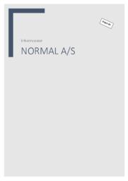 Normal AS   Erhvervscase   10 i karakter