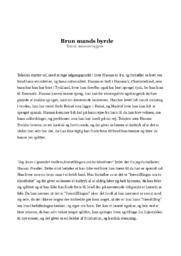 Brun mands byrde | Analyse | Hassan Presiler