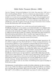 Fasaner | Analyse | Helle Helle | 10 i Karakter