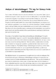 Fri mig for Disneys hvide… | Analyse | Tina Spildboel