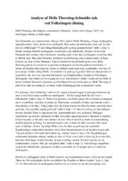 Helle Thorning-Schmidts tale | Analyse | 10 i Karakter