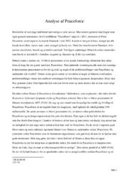 Peaceforce | Analyse | Peter Gornstein | 12 i Karakter
