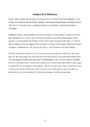 En Skilsmisse | Analyse | Katrine Marie Guldager | Noter