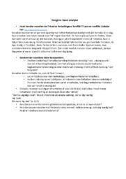 Sorgens have | Analyse | Caroline Albertine Minor | Noter