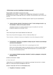 Tendensen | Dansk Opgave | Noter