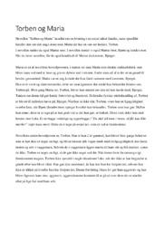 Torben og Maria   Analyse   Naja Marie Aidt   Noter