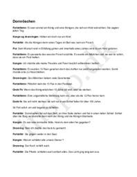 Dornröschen af Brüder Grimm – Tornerose – Referat/manuskript