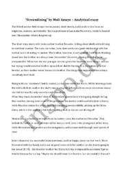 """Streamlining"" by Muli Amaye | Analytical essay"