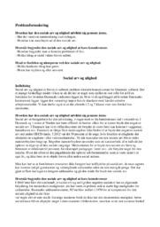 Social arv og ulighed i Danmark   10 i karakter