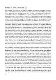 Royal Greenland AS | Analyse | Virksomhedsøkonomi