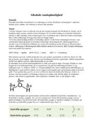 Alkohols vandopløselighed | 12 i karakter