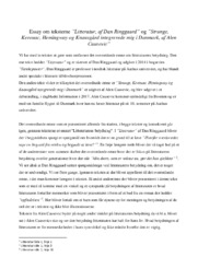 Essay | 'Litteratur, af Dan Ringgaard' og 'Strunge, Kerouac, Hemingway…