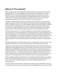 Referat af 'The inside job' | 10 i karakter