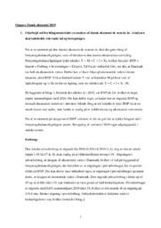 Dansk økonomi 2019 | IØ opgave | 10 i karakter
