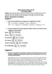 Konjunkturvurdering | IØ opgave | 10 i karakter