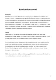 Samfundsøkonomien i 2020 | IØ opgave | 10 i karakter