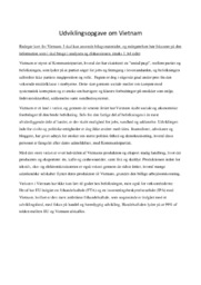 Udviklingsopgave om Vietnam | IØ – 12 i karakter
