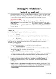 Statistik og indekstal | Matematikopgave | 10 i karakter