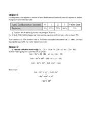 Funktioner og ligninger | Matematik aflevering | 12 i karakter