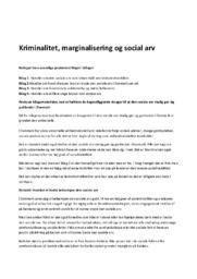 Kriminalitet, marginalisering og social arv   Samfundsfag