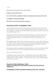 Om Chile | Spansk | 10 i karakter