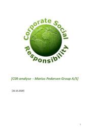 Marius Pedersen Group AS | CSR-analyse | 10 i karakter