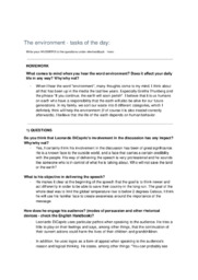 The environment | Assignment | 10 i karakter