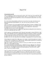 Virksomhedsanalyse Aqua d'or | 10 i karakter