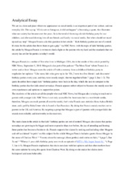 Meagan Francis | Analytical-Essay