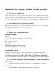 Segmenting the consumer marked | 10 i karakter
