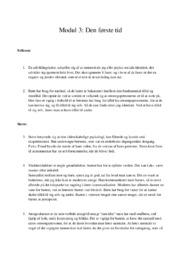 Indentitetsudvikling den første tid | 10 i karakter