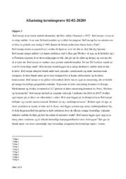 Afsætning terminsprøve af BoConcept | 10 i karakter
