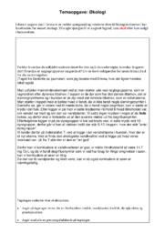 Temaopgave | Økologi | 10 i karakter