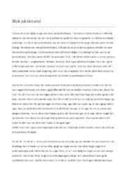 Blok På Bistand | Analyse | DR1 | 10 i Karakter