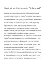 Analyse af dokumentaren Testamentet | 10 i karakter