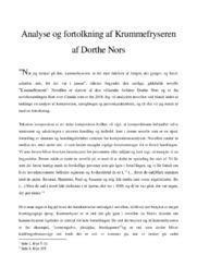 Analyse af Krummefryseren af Dorthe Nors | 10 i karakter