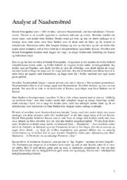 Naadsensbrød   Analyse   Henrik Pontoppidan   10 i Karakter