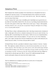 America First   Debating essay   10 i karakter